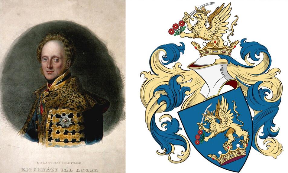 Eszterházy Pál és a címer